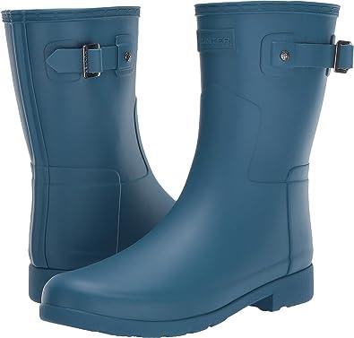11b6e06200da Womens Hunter Original Refined Short Winter Snow Waterproof Rain Boots:  Amazon.co.uk: Shoes & Bags