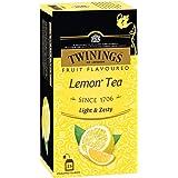 Twinings Lemon Tea, 25 Teabags, Premium Black Tea with Lemon, English Classic Taste, Light Strength, Bright and Zesty…