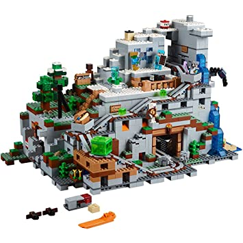Amazon.com: LEGO Minecraft The Mountain Cave 21137 Building Kit ...