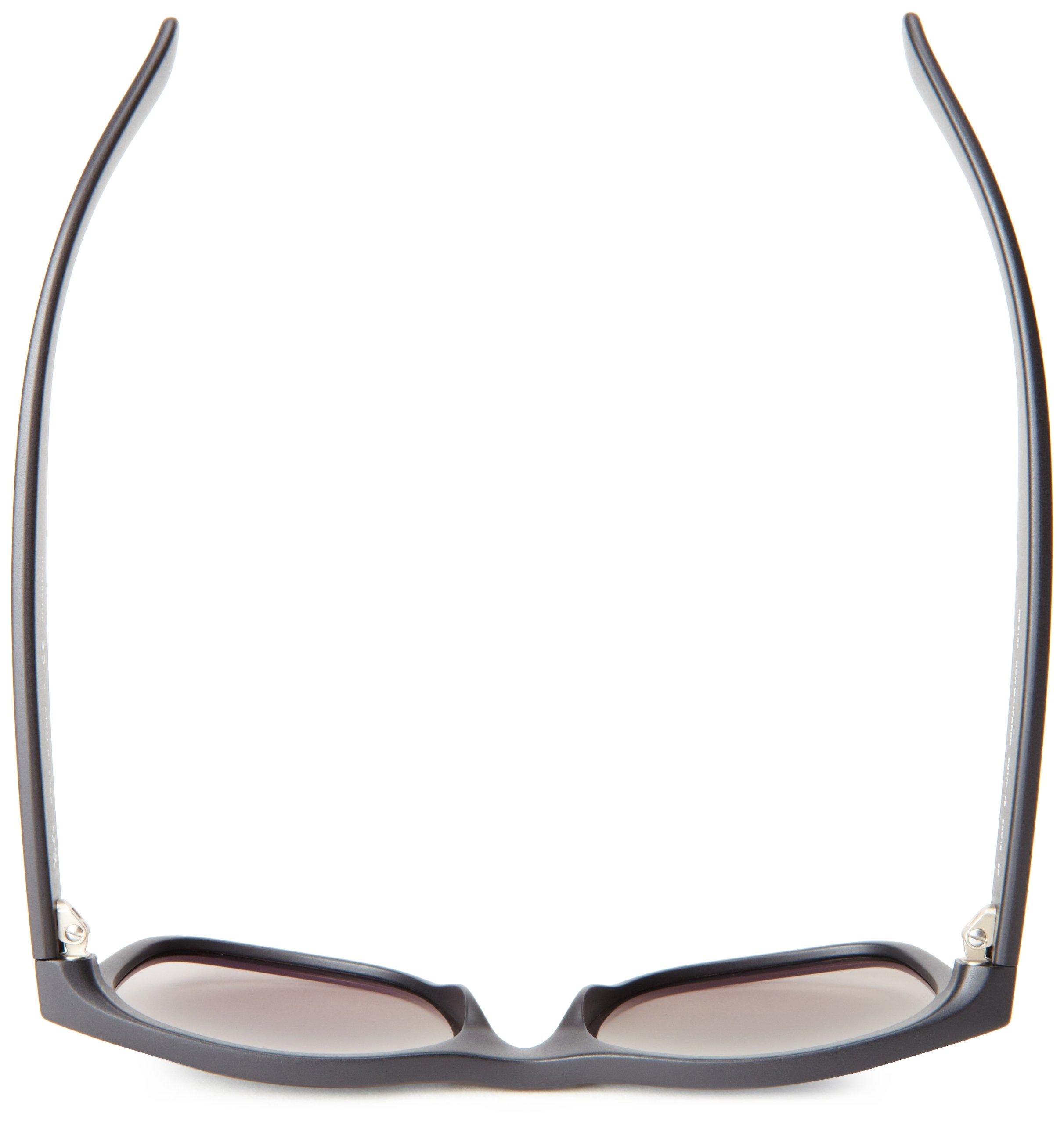 Ray-Ban Unisex New Wayfarer Polarized Sunglasses, Black/Polarized Blue/Grey Gradient, Blue Gradient Grey, 55mm by Ray-Ban (Image #5)
