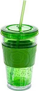 Cool Gear Gel Insulated Tumbler w/ Colored Band (Green) by CoolGear