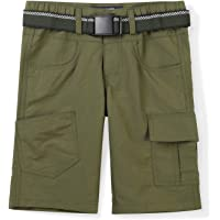 Mesinsefra Kids Elastic Waist Cargo Shorts Boys Girls Youth Casual Lightweight Outdoor Quick Dry Hiking Travel