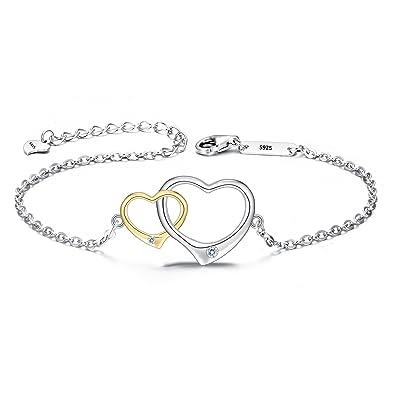 925 Cubique Argent Bracelet Zircone Fin De Clearine Femme Lien qUVGzMSp
