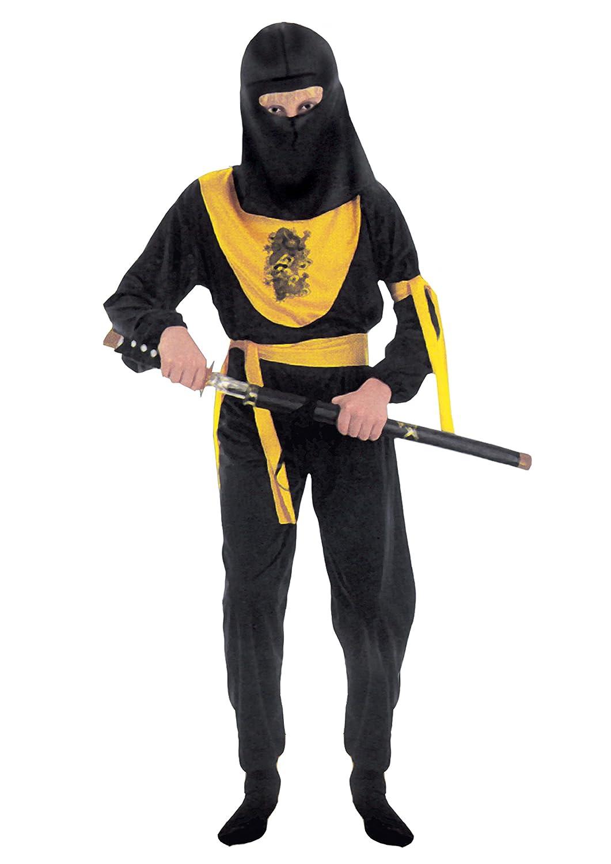 FIORI PAOLO – Dragon Ninja disfraz niño M (5-7 anni) Negro