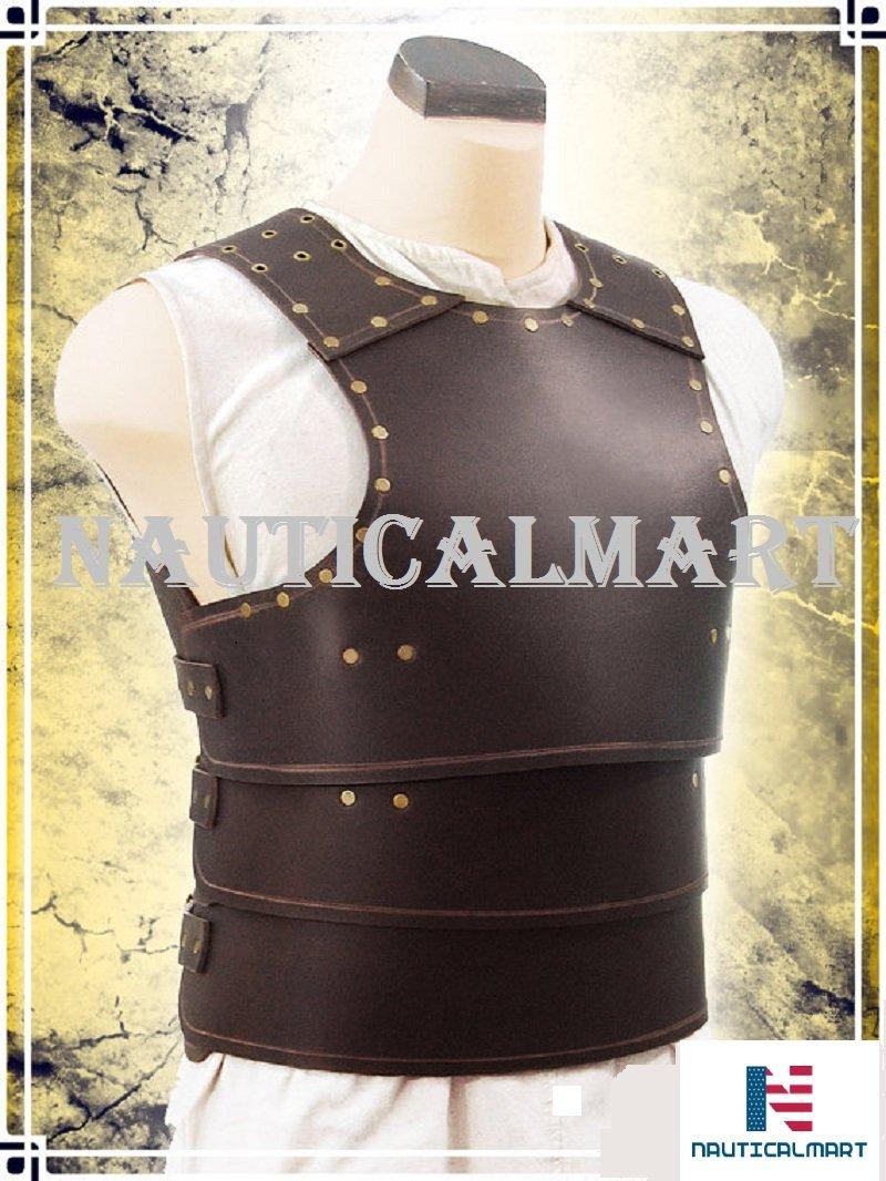 NAUTICALMART Basic Leather Armor LARP, Cosplay, Chest (Brown) by NAUTICALMART