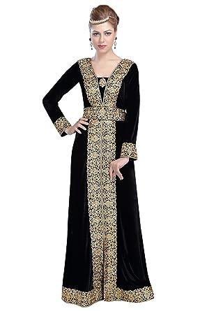 cc4ca0dd15d0 Luxurious Party Wear Wedding Gown for Arabian Women by Maxim Creation 6117  (5XL) Black