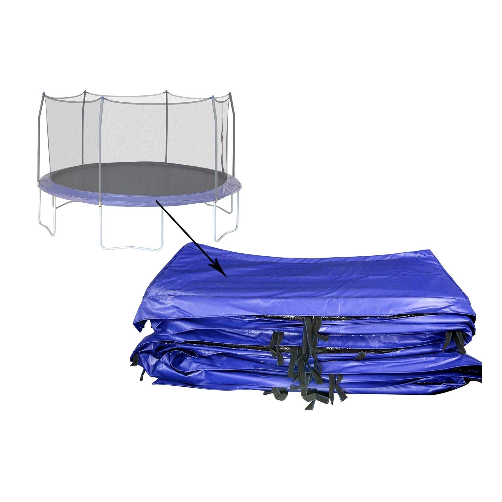 Trampolines Replacement Parts 15 ft Skywalker Accesories. 15' Round Spring Pad Blue Vinyl-Coated for Trampoline. Ultra High UV Protection. Compatibility SWTC15 by Skywalkers Trampolines genuine component (Image #1)