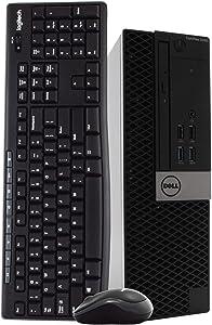 Dell OptiPlex 5040 Small Form Factor (SFF) PC Desktop Computer, Intel i5-6500, 16GB RAM, 2TB Hard Drive, Windows 10 Professional, Wireless Keyboard & Mouse, DVD-RW, WiFi, HDMI, USB 3.0 (Renewed)