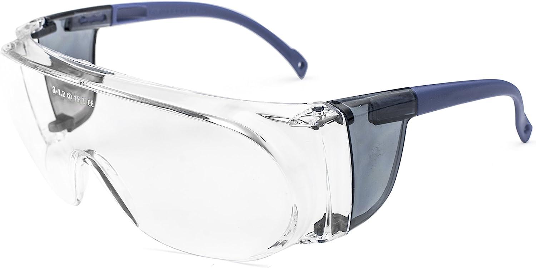 Pegaso 40.9 Gafas de Protección, Azul y Transparente, L