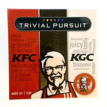 amazon com kfc kentucky fried chicken trivial pursuit game ages 12