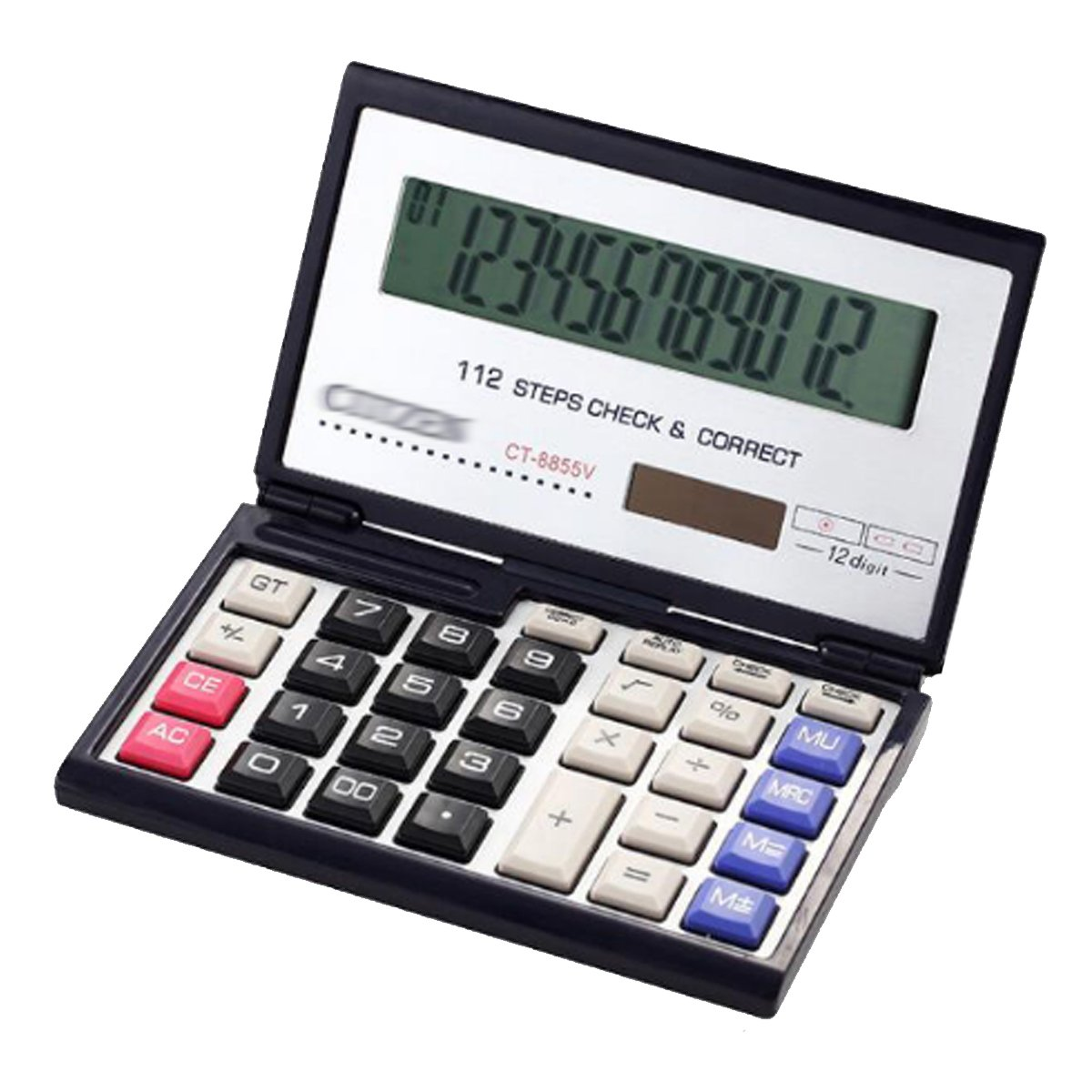 Kennedy 12-digits Large Display Folding Calculator-Solar and Battery Operation For Business, Financial, Student