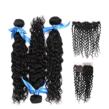 Human Hair Weaves Closures Official Website 13x4 Ear To Ear Brazilian Deep Curly Lace Frontal Closure Pre Plucked With Baby Hair 100% Human Remy Hair Closure Ali Sky