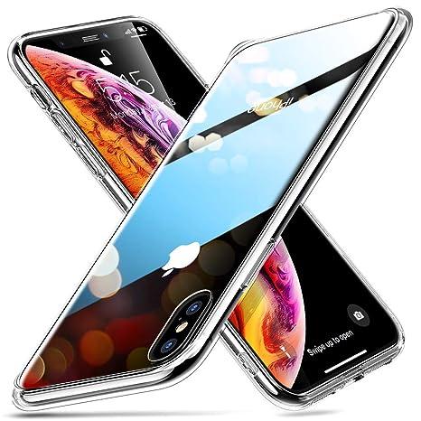 ESR Funda para iPhone XS/X Cristal Templado [Imita la Parte Posterior del Vidrio