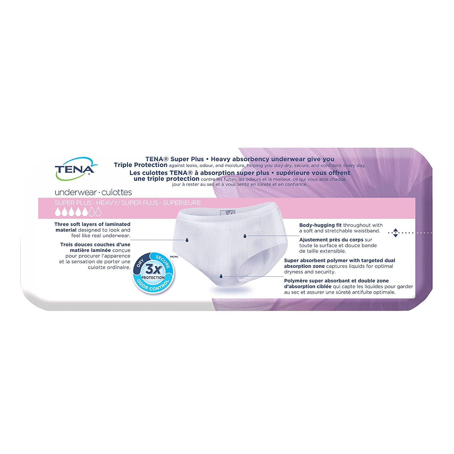 507cfb4d7d544 Amazon.com: Tena Incontinence Underwear for Women, Super Plus Absorbency,  Large, 16 Count: Health & Personal Care