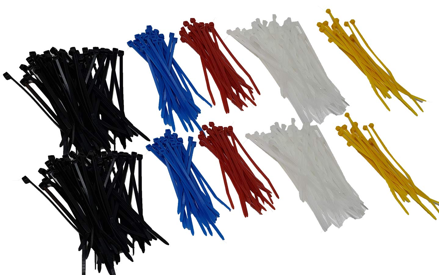 """Mini Zip Ties Colored Cable Ties Strap 4/"""" Multi-colors 600 Count Self-Locking Plastic Wire"""