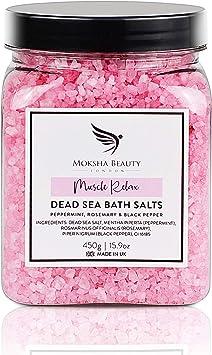 Sales de Baño Rosa de Mosqueta – Sales de Baño Relajantes Aceites Esenciales Hechas en el Reino Unido [450g] 100% Natural, – Sales de Baño Para Pies de Atleta: Amazon.es: Belleza