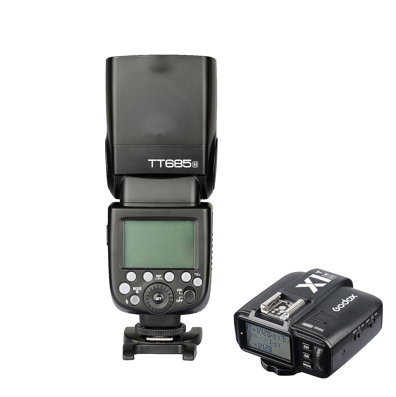 Godox tt685 N 2.4 Gワイヤレスi-ttlカメラフラッシュSpeedlite with x1t-n TTL 2.4 Gワイヤレスフラッシュトリガーfor Nikon d7100 d7200 d7000 d800 DSLRカメラ   B01HAW6JJG