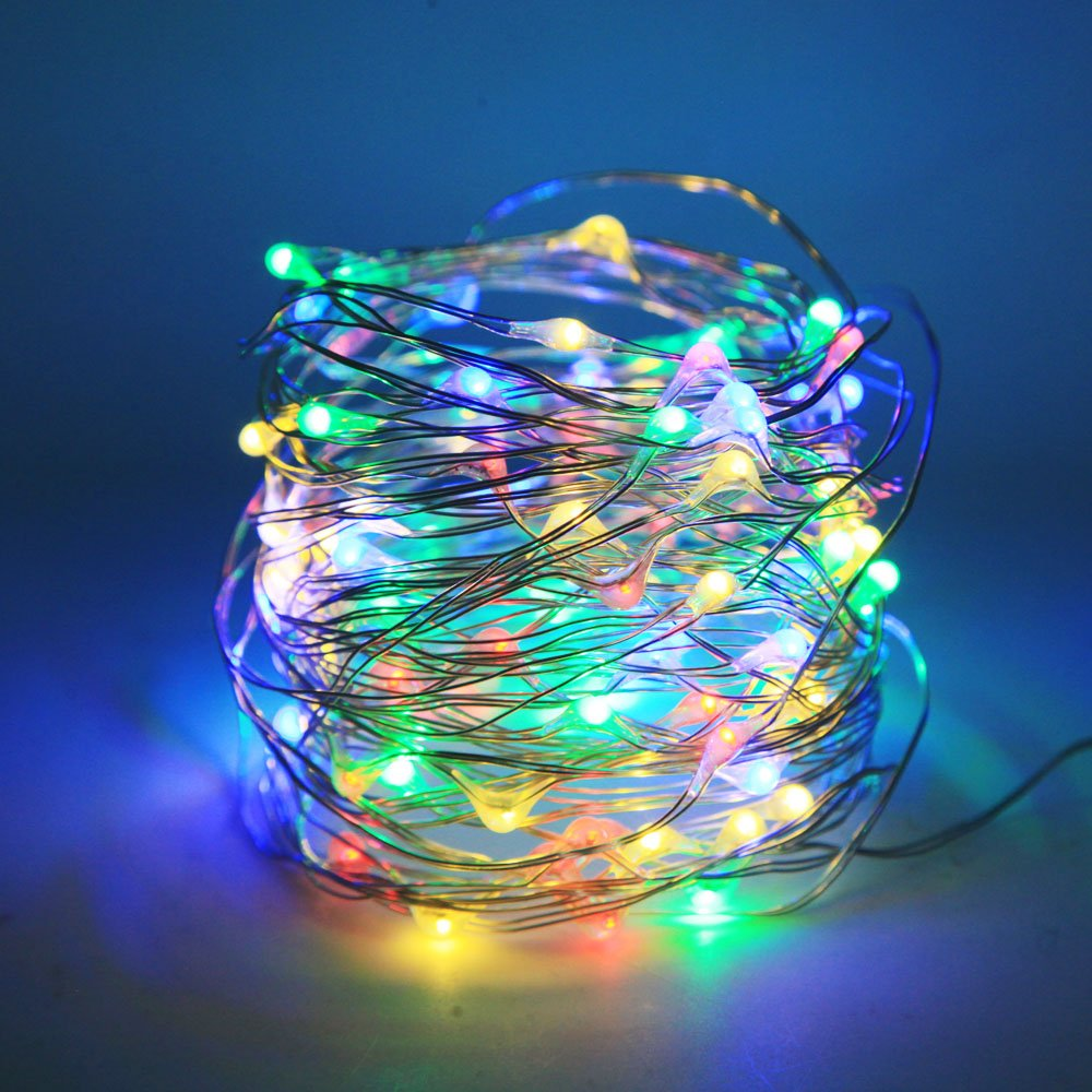 Lezoey Battery Fairy Lights 33Fft 100leds 8 Modes Waterproof Battery ...