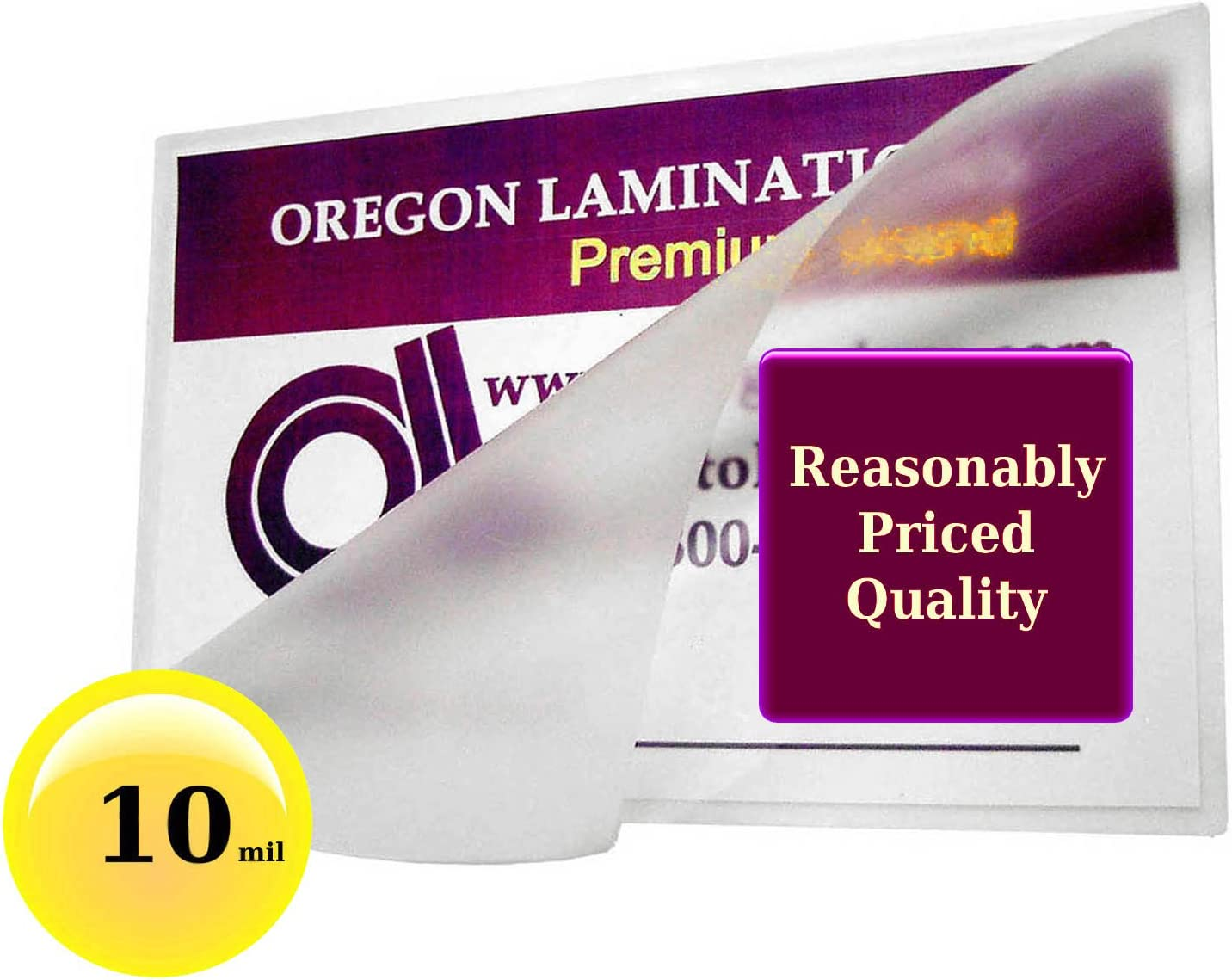 100 ID Badge 5 Mil Laminating Pouches Sheets With Slot 2.56 x 3.75 Quality