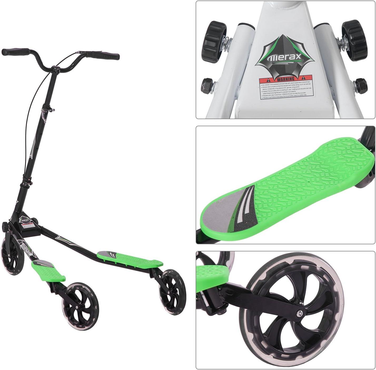 Amazon.com: Monopatín plegable Merax de 3 ruedas, con ...