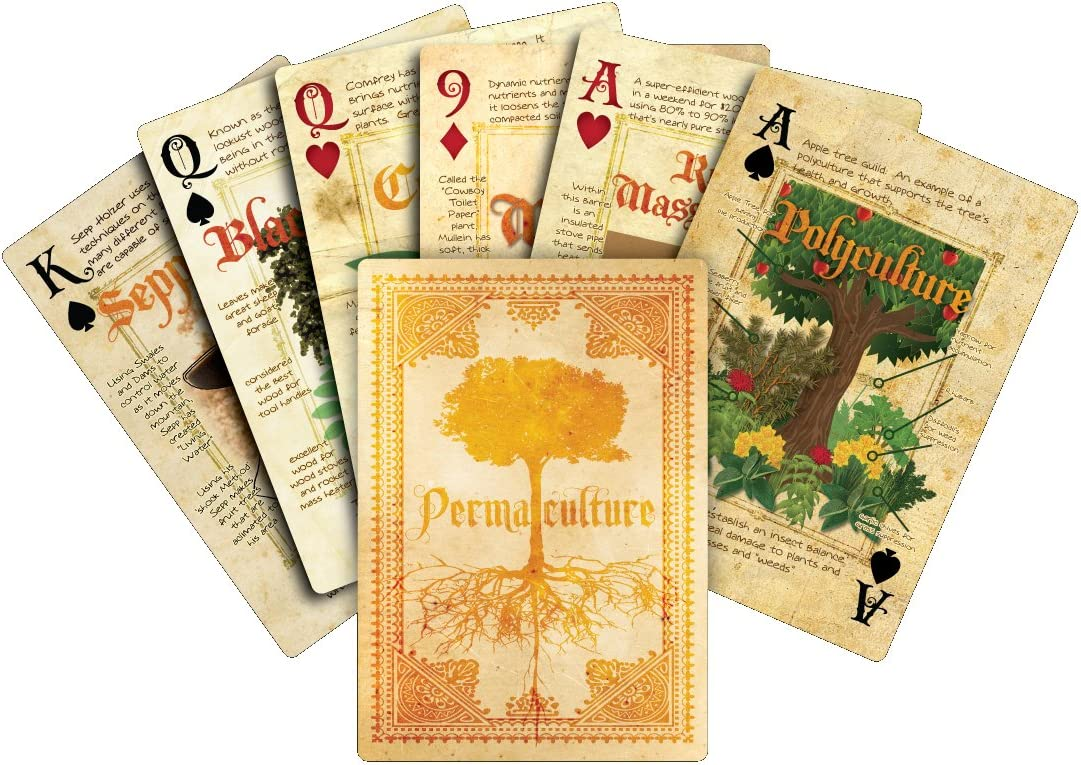 permaculture playing cards, gardening gift idea
