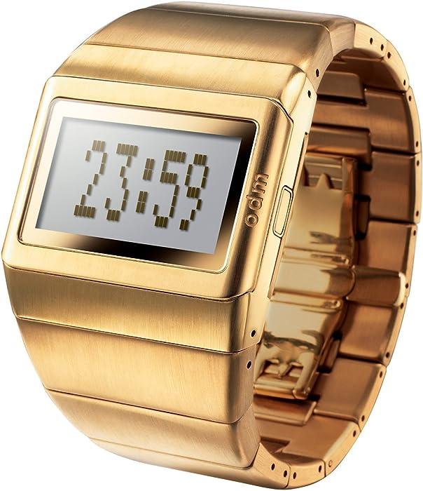 odm MDD99-3 - Reloj digital de cuarzo para mujer con correa de acero inoxidable, color dorado