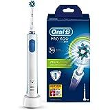 Oral-B Pro 600 Elektrische Zahnbürste, mit CrossAction Aufsteckbürste