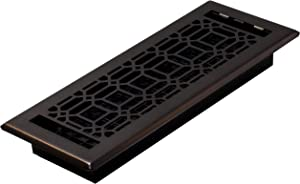 Decor Grates NGH412-RB Floor Register, 4 x 12, Rubbed Bronze