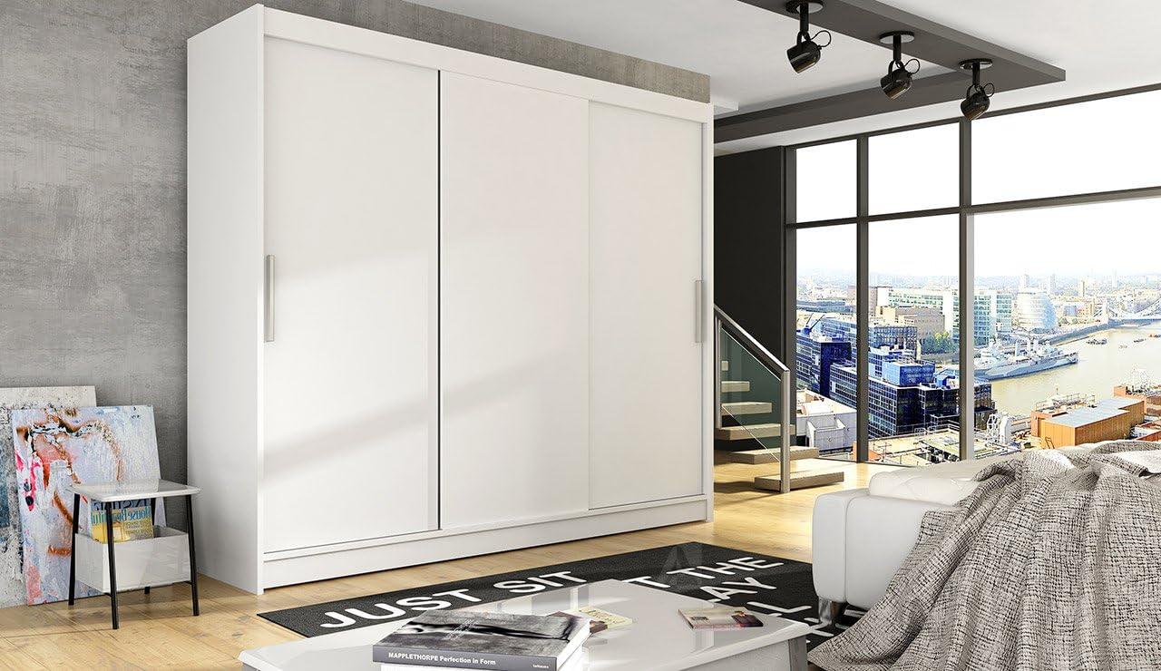 Ye Perfect Choice Armario moderno para dormitorio con 3 puertas correderas grandes, 2 anchos de 250 cm: Amazon.es: Hogar