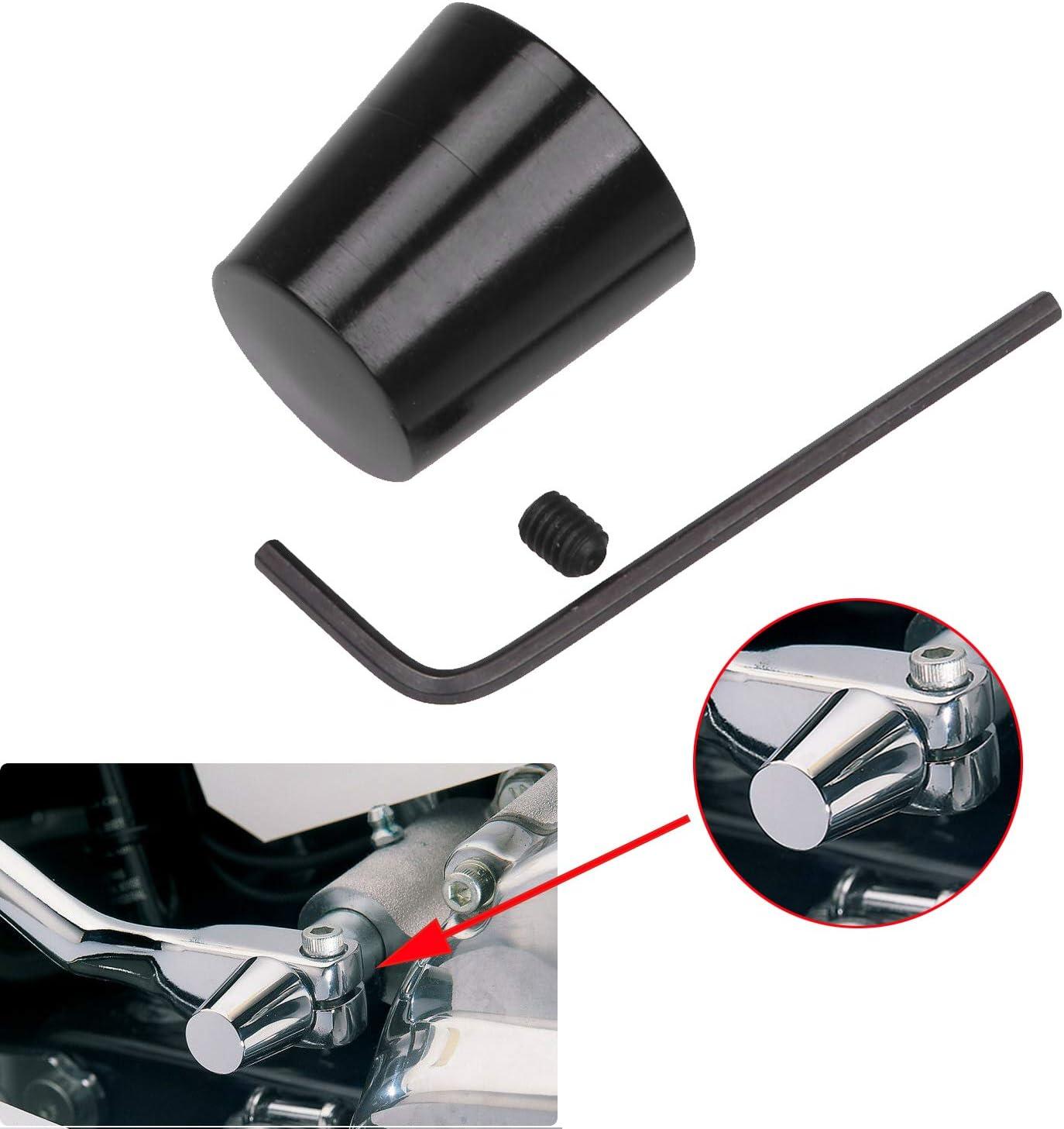 Black Aluminum Heel Shift Lever Eliminator For Harley Tour Glides Electra Glides Road Glides Street Glides /& Trikes