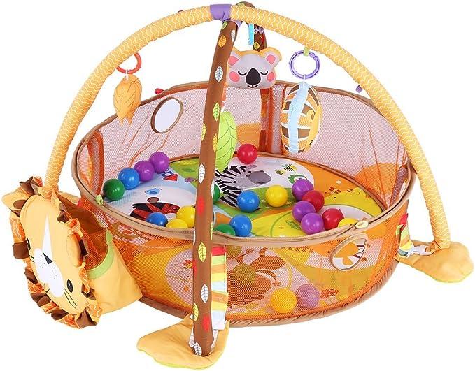 con malla protectora de seguridad y bolas de colores gimnasio o actividades al aire libre Alfombra de juegos y pelotas para actividades de beb/é gimnasio de actividades para ni/ños