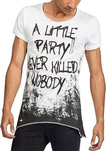 trueprodigy Casual Hombre Marca Camiseta Estampado Ropa
