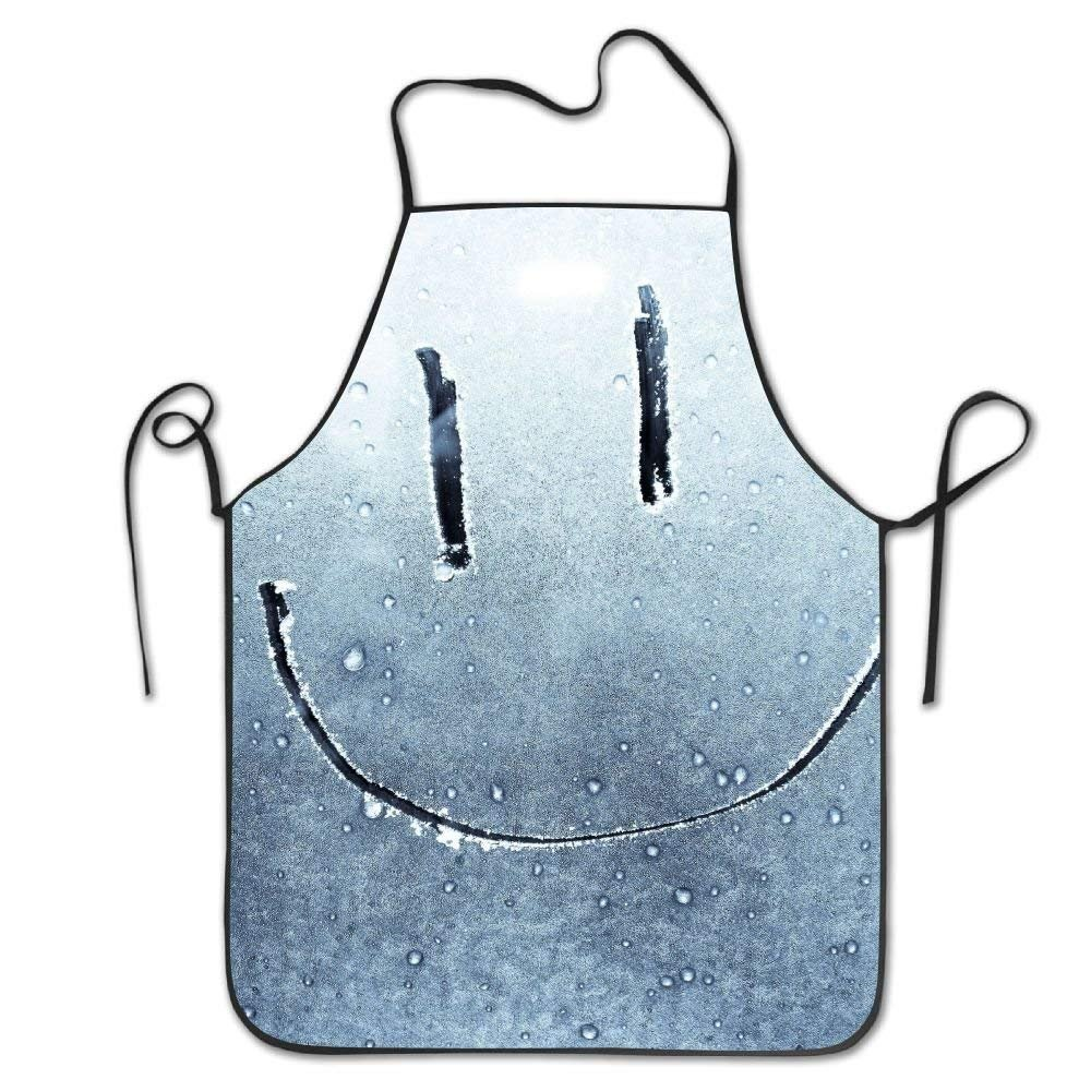 CaseWorkShop Smiley Face On Window Deluxe Aprons Personalized Printing Kitchen Apron£¬ Unisex Kitchen Bib Apron for Cooking Baking Gardening£¬Durable£¬Waterproof