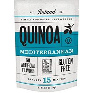 Roland Foods Mediterranean Seasoned Quinoa, Gluten Free, Specialty Imported Food, 5.46-Ounce Pouch