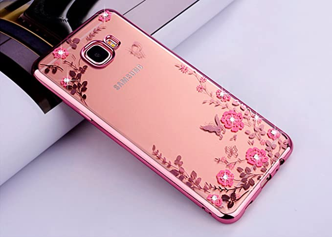ZCRO Handyhülle für Samsung Galaxy A3 2016 / A310, Silikonhülle Hülle Silikon Transparent Klar Schutzhülle TPU Case Glitzer B