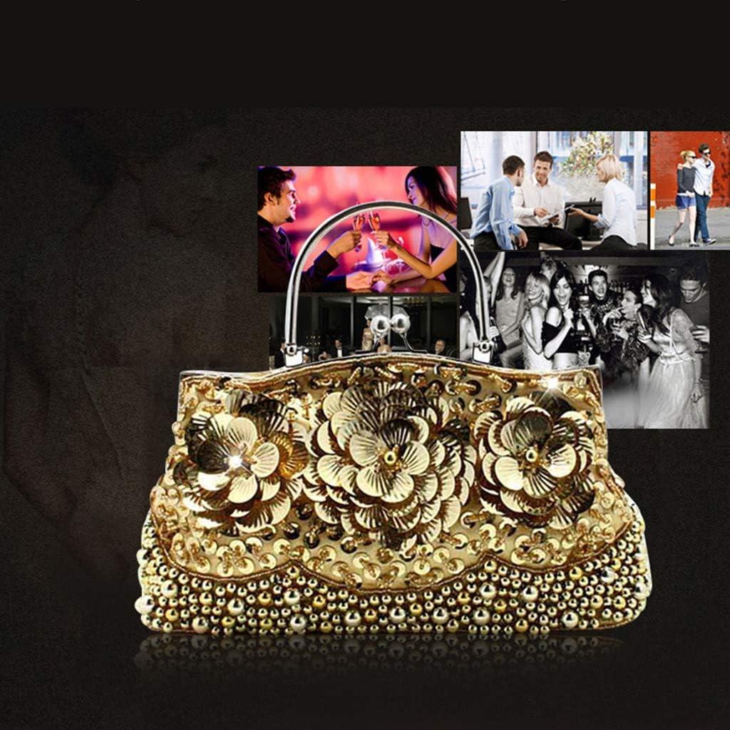 Dinner bag Abendtaschen und Kupplungen für Frauen Kristallkupplung Perlen Strass Geldbörse Hochzeit Handtasche, Party Brautkupplung Geldbörse Schulter Umhängetasche Pink