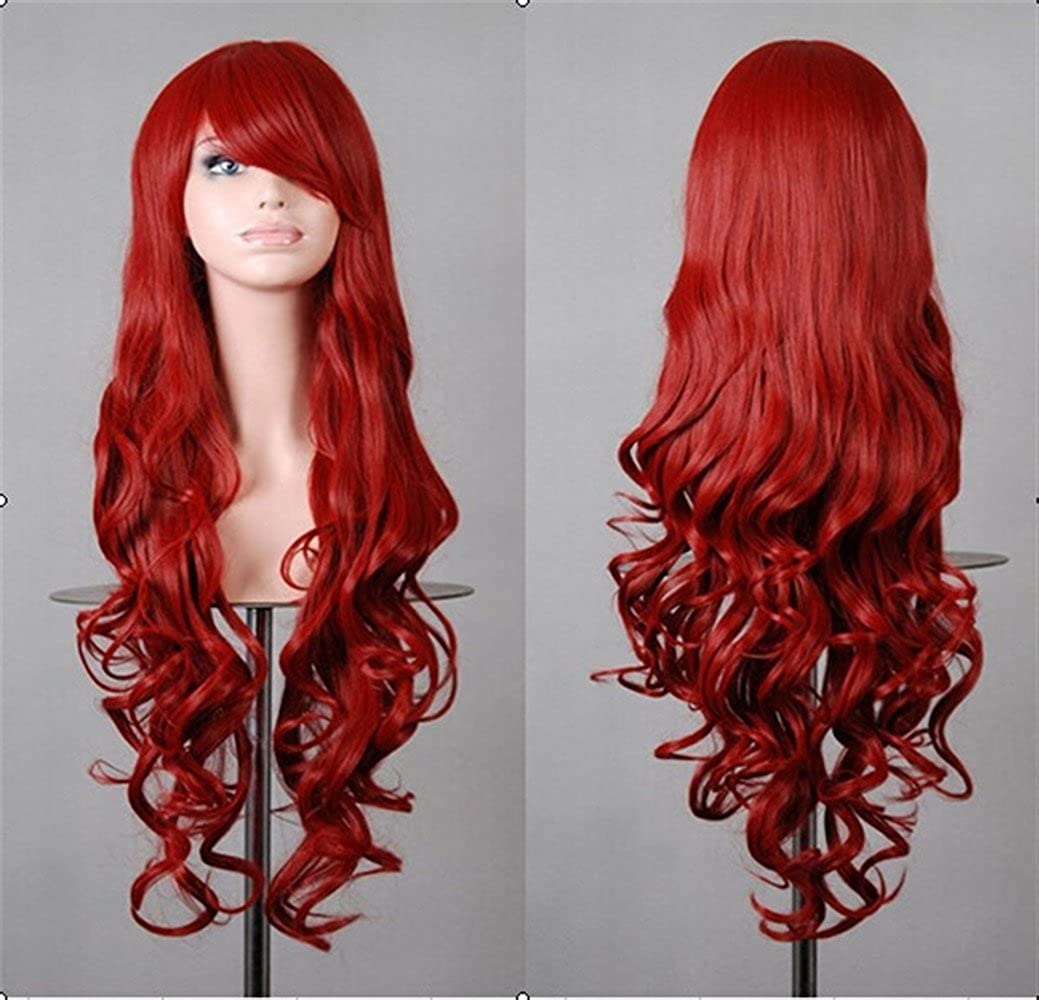S-ssoy Wigs 31 Long Wavy Hair Wig for Women Halloween Cosplay Daily Party Use