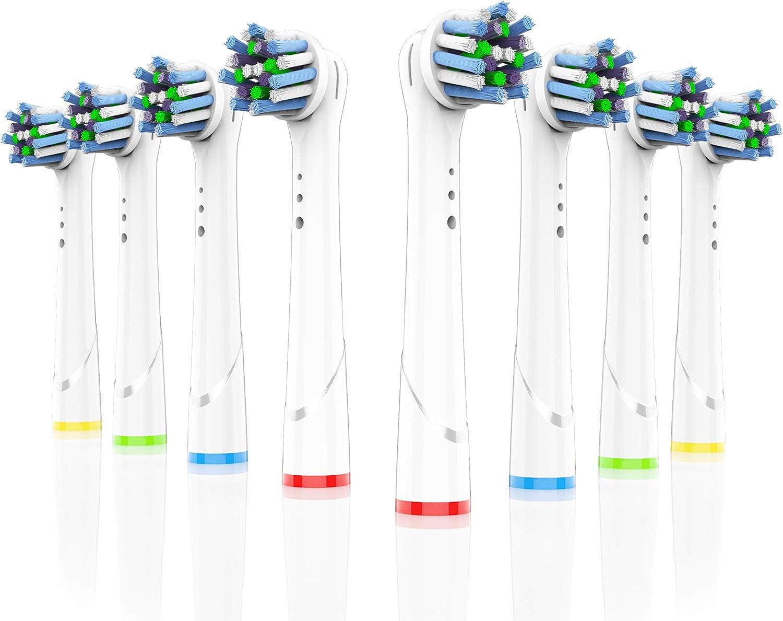 Oral-B Aufsteckürsten Crossaction Ersatzbürsten 3+1 Set Zahnbürste Bürstenkopf