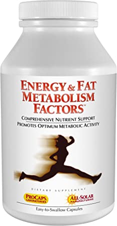 Andrew Lessman Energy & Fat Metabolism Factors 60 Capsules - Promotes Optimum Fat Burning and Energy Metabolism, with Carnitine, Green Tea, Guarana, Ginseng, B-Complex. Easy to Swallow Capsules