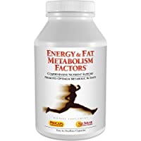 Andrew Lessman Energy & Fat Metabolism Factors 180 Capsules - Promotes Optimum Fat Burning and Energy Metabolism, with Carnitine, Green Tea, Guarana, Ginseng, B-Complex. Easy to Swallow Capsules