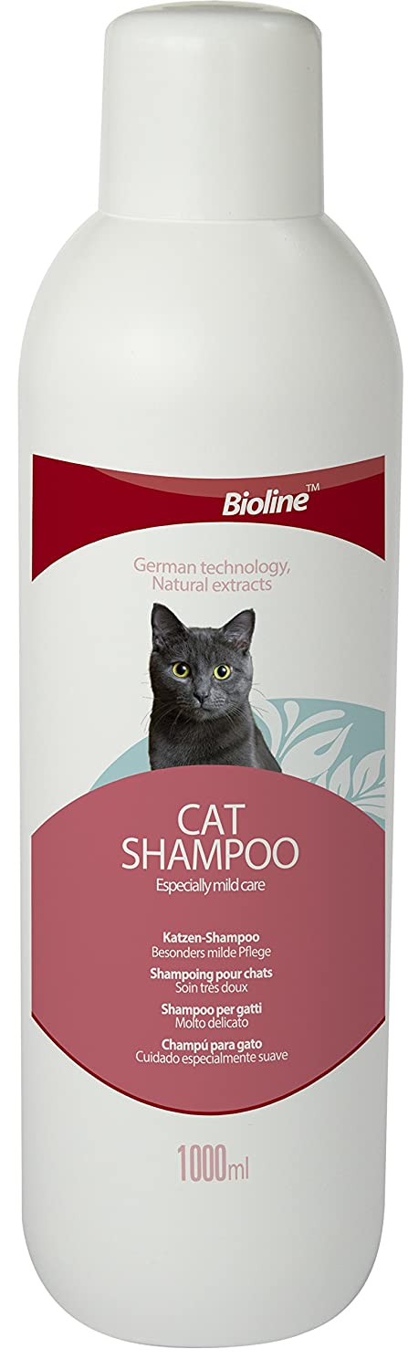 : Amazon.com: Bioline Neutral Cat Shampoo 1L (33.81 fl. oz.), Mild, No Fragrance and with Multivitamins, For Sensitive and Itchy Skins
