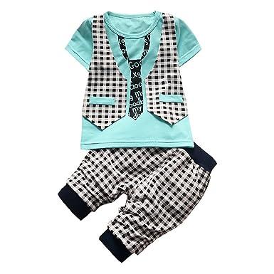 5cba959fbc11 BibiCola Baby Boy Clothes Newborn Toddler Boy Summer Clothing Set Gentleman  2pcs Lattice Clothes Sets Boys