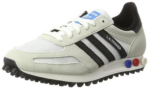 Scarpe da Uomo Adidas Originals LA Trainer OG Sneakers Basse Vintage WhiteMystery InkGum ~ ZZAPP