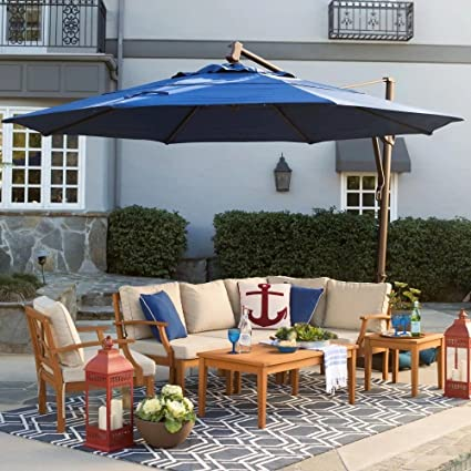Beau Patio   Umbrella Outdoor, Round, Crank Lift, Adjustable Auto Tilt. Best Sun