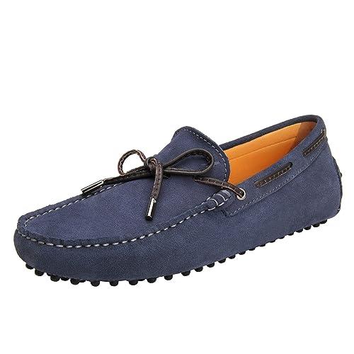 Shenduo Zapatos Hombre Primavera Verano - Mocasines de Cuero Gamuza con Borlas de Moda para Hombre D7151: Amazon.es: Zapatos y complementos