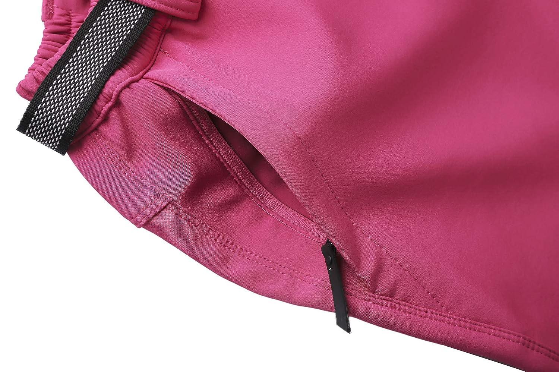DENGBOSN Pantaloni Trekking Donna Invernali Impermeabile Caldo Pantaloni Softshell Outdoor Pantaloni da Arrampicata Escursionismo