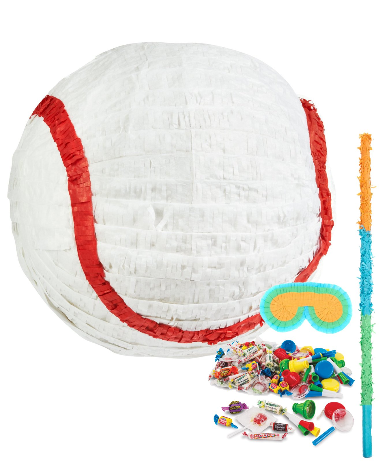 BirthdayExpress Baseball Time Party Supplies - Pinata Kit