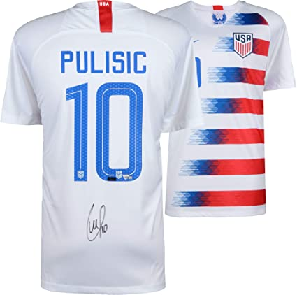 size 40 6bef4 0089c Christian Pulisic USA Autographed 2018 Nike White Jersey ...
