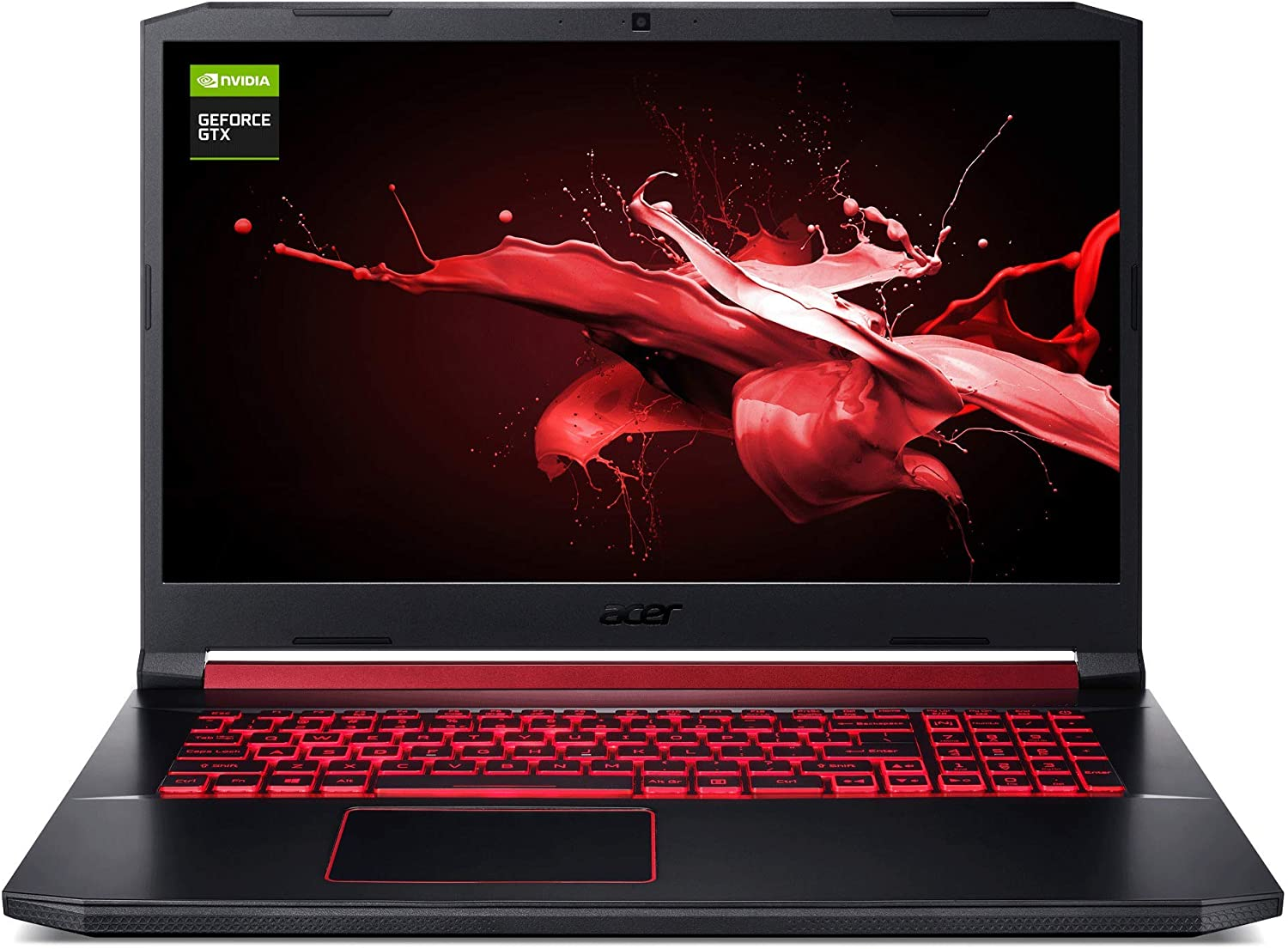"Acer Nitro 7 Gaming Laptop, 15.6"" Full HD IPS Display, 9th Gen Intel i7-9750H, GeForce GTX 1650 4GB, 16GB DDR4, 512GB PCIe NVMe SSD, Backlit Keyboard, AN715-51-752B, 16GB / 512GB"