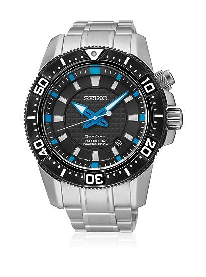 SEIKO SKA561P1 - Reloj de caballero Seiko SPORTURA Kinetic - Calendario 200 M, Acero: Amazon.es: Relojes